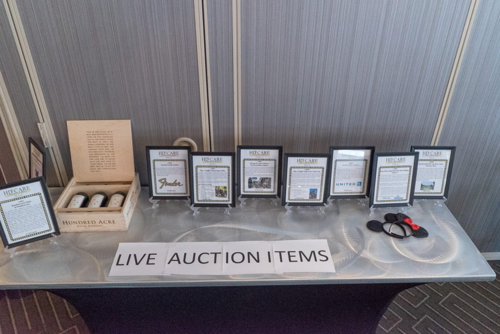 Live auction items